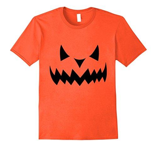 Jack O Lantern Costumes Tshirt (Mens Pumpkin Jack O' Lantern Halloween Costume Scary T-Shirt Large Orange)