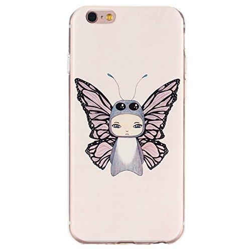 Voguecase® für Apple iPhone 6/6s (4,7 Zoll), Schutzhülle / Case / Cover / Hülle / TPU Gel Skin (Schmetterling Elf) + Gratis Universal Eingabestift
