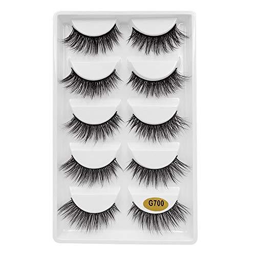 12263bbe4bc 5 Pairs 3D Fashion Party False Eyelashes Thick Eyelashes Extension Colorful  Makeup