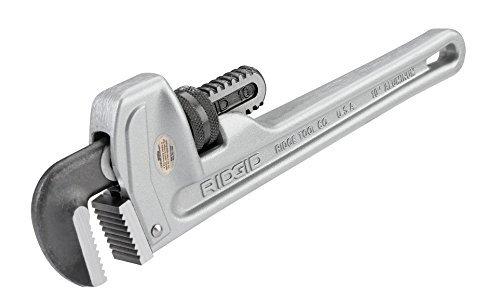 RIDGID 31090 Model 810 Aluminum Straight Pipe Wrench, 10-inch Plumbing Wrench ()