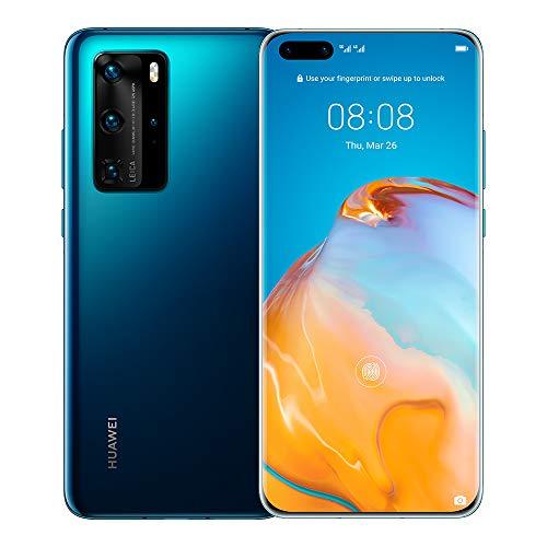 Huawei P40 Pro 5G Dual Sim EU/UK Version ELS-NX9 [NO Google Services] 8GB+256GB International Version - Deep Sea Blue