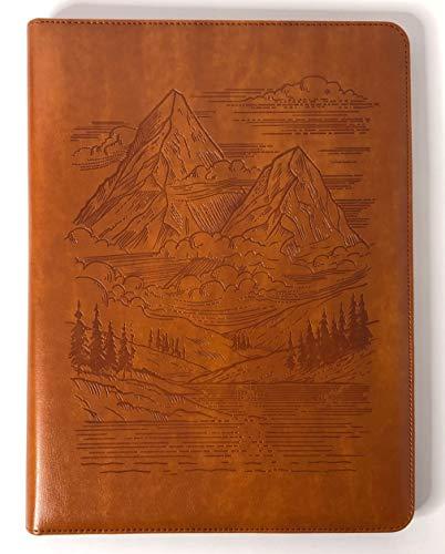 - Mountains Padfolio by SohoSpark, Designer Faux Leather Portfolio, 8.5x11 Letter-Size Document Organizer, Resume Holder, Business Folder with Pen Holder