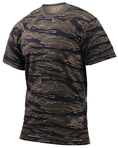 BlackC Sport T-Shirt Camouflage Military Style Tiger Stripe ()