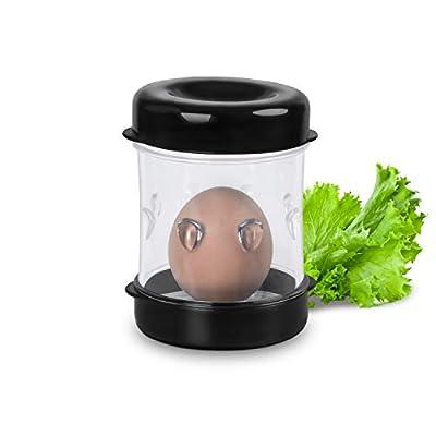 Xiong chao1 iueyshrfisuhkgiush Egg Peeler, Egg Peeler, Durable Hard Boiled Egg Peeler Shaker, Convenient Egg Stripper Black