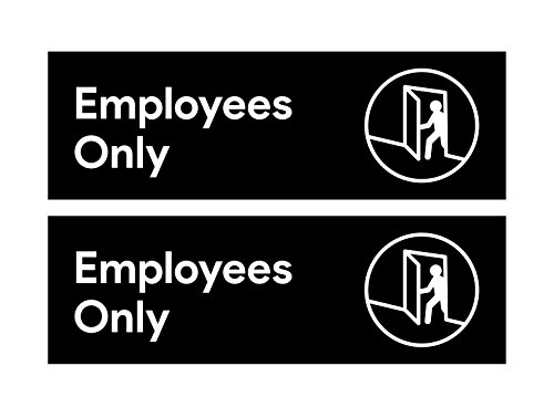 Window Retail Sign - Sutter Signs Employees Only Sticker (Pack of 2) | for Restaurants, Retail Stores, Salons, Hotels and Motels, Gas Stations, Rest Stops, and Other Public Bathrooms.