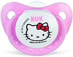 NUK 710301 - Juego de chupetes (talla 1, 2 unidades), diseño de Hello Kitty