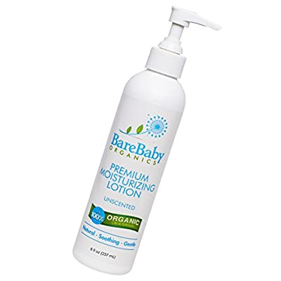 Organic Baby Lotion – For Normal, Dry or Sensitive Skin – No Added Fragrances - Eczema Friendly Moisturizer – With Aloe Vera, Coconut Oil, Shea Butter – Gluten Free – 8oz