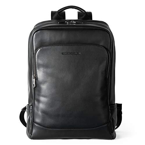 Sharkborough The Entrepreneur Men s Backpack Genuine Leather Business Travel Bag Extra Capacity