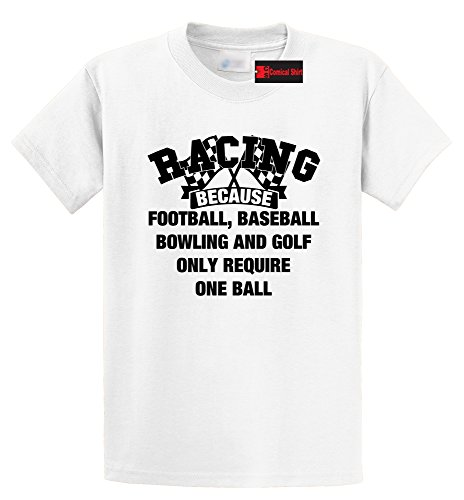Men's Heavyweight Tee Racing Other Sports require One Ball White L