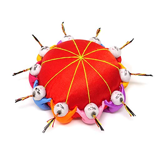 Honbay Handmade Product Chinese Traditional Style Needle Pin Cushion with 10 Kids (Red)