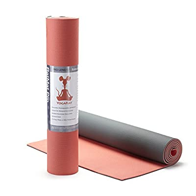 "RatMat Pro ECO YOGA MAT: 100% TPE, Extra long at 24"" x 72"" x 5mm thick"