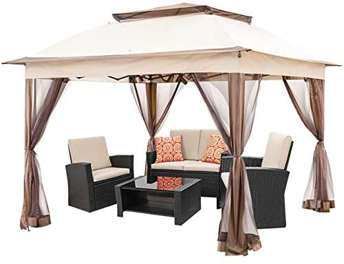 Hrooarem 11x11FT Outdoor Pop Up Gazebo Canopy Tent