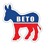 Crazy Novelty Guy Bumper Sticker - Beto O'Rourke 2020 - Democrat Donkey - Political Campaign Decal - 4.5' x 4.25'