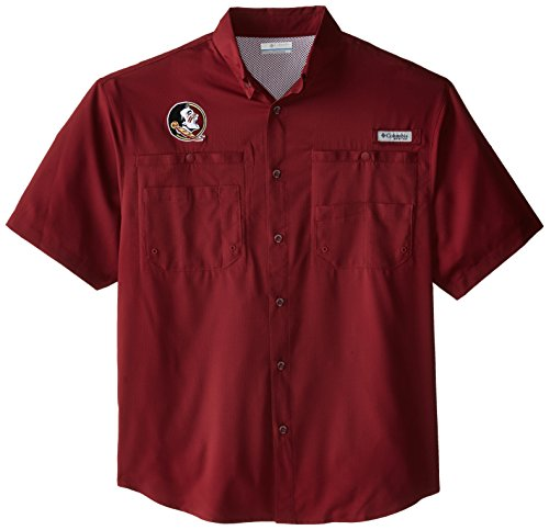 Cabernet Short Sleeve T-shirt - NCAA Florida State Seminoles Men's Collegiate Tamiami Short Sleeve Shirt, Cabernet, Small