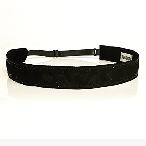 BEACHGIRL Bands Black Non Slip Adjustable Sports Headband For Women And Girls