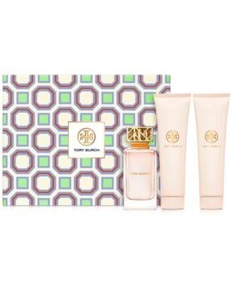 Tory Burch Fragrance 3 Pc Set Eau de Parfum Spray Body Lotion Bath Gel