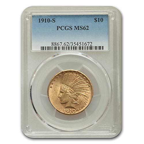 1910 S $10 Indian Gold Eagle MS-62 PCGS G$10 MS-62 PCGS