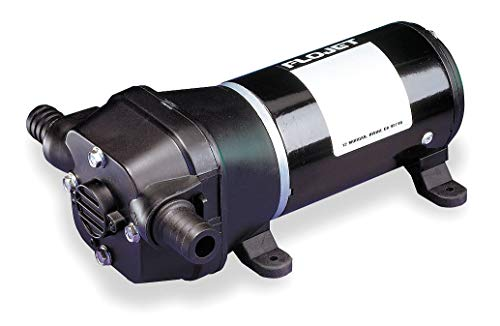 (Flojet Quad Chamber Diaphragm General-Purpose Pump, Voltage: 12VDC, Polypropylene - 04125502G)