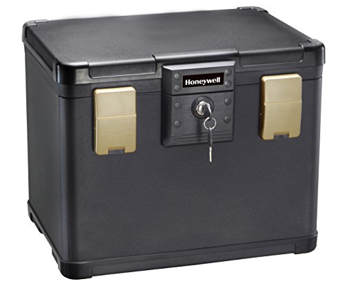 HONEYWELL - 30 Minute Fire Safe Waterproof Filing Safe Box Chest (fits Letter and A4 Files), Medium, 1106 ()