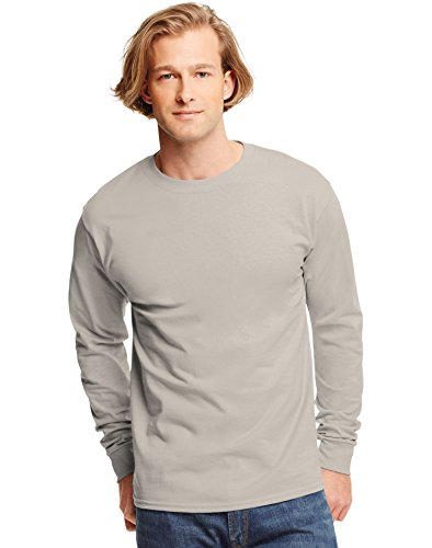 Hanes 6.1 oz. Tagless� ComfortSoft� Long-Sleeve T-Shirt - SAND - (6.1 Ounce T-shirt)