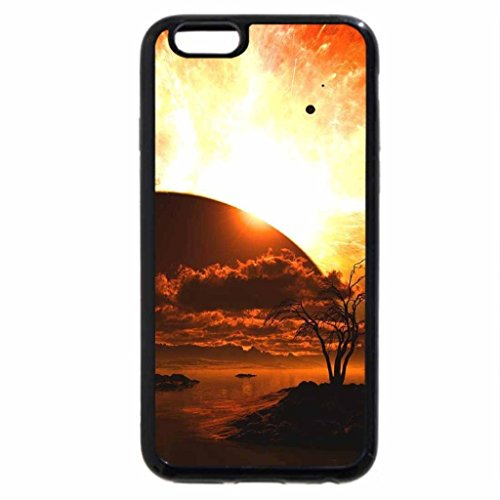 iPhone 6S / iPhone 6 Case (Black) Red Sunset