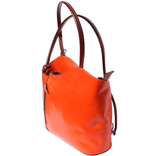 en sac marron à transformable dos Orange sac à èpaule 207 66tqACw