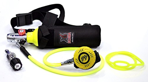 DXDIVER Bailout Pony Bottle Diving Kit with Nylon Belt - Hose - 13 cf Tank - SPG Gauge - Regulator - Fill Adapter - Spare Secondary Air Scuba Dive Egressor ()