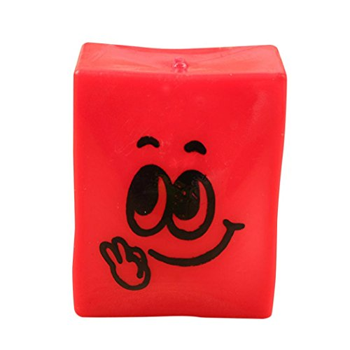 Red Seal United States Note (FINERINE Creative Transparent Tofu Squeeze Healing Fun Kids Toy Stress Reliever Decor (Red))