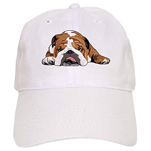 CafePress Teddy The English Bulldog Baseball Baseball Cap with Adjustable Closure, Unique Printed Baseball Hat White