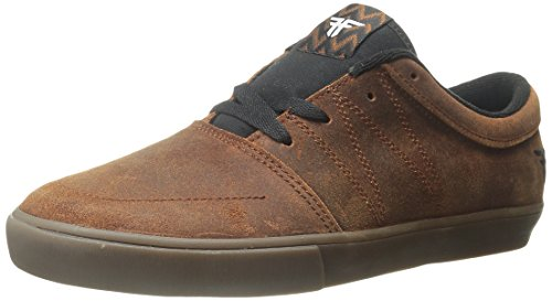 Fallen Men's Roots Skateboard Shoe, Brown/Gum, 8 M US