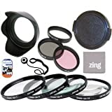 55mm Multi-Coated 7 Piece Filter Set Includes 3 PC Filter Kit (UV-CPL-FLD-) And 4 PC Close Up Filter Set (+1+2+4+10) For Sony Wide Angle 35mm f/1.4G Autofocus Lens + Hard Tulip Lens Hood+ Lens Cap + Cap Keeper + MicroFiber Cleaning Cloth + LCD Screen Protectors