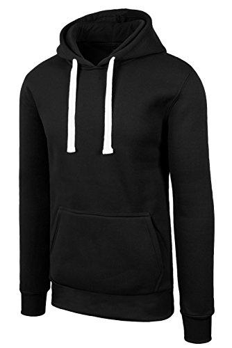 JC DISTRO Hipster Hip Hop Basic Pullover Sweatshirts Hoodie Jacket Black Medium Black Classic Sweatshirt