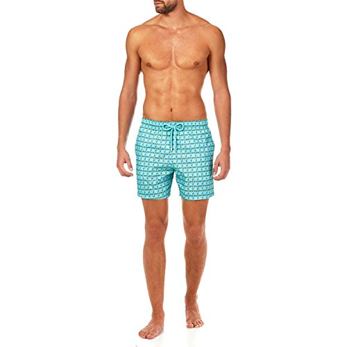 Vilebrequin Les 4 Élements Packable Swim shorts - Men - lagoon - XXL by Vilebrequin