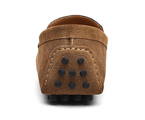 37 Penny Classic 49 Mocassini Loafers Santimon Slip Guida Scarpe Pelle Cachi On Uomo Da myvN8wOP0n