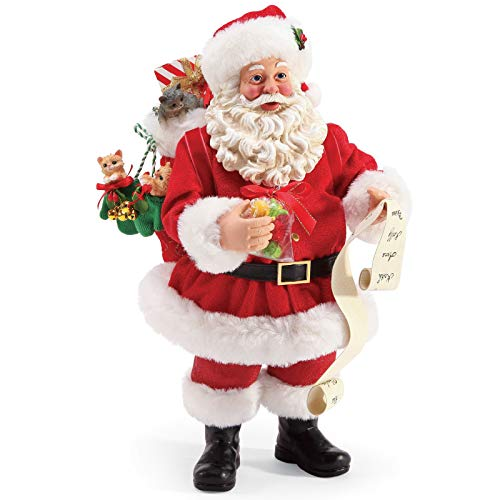 Department 56 Possible Dreams Santa and His Pets Mittens and Kittens Personalizable Figurine, 10.5 Inch, Multicolor (56 Department Dreams Santas Possible)