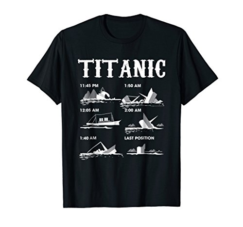 Titanic April 1912 Ship Voyage Atlantic Ocean T Shirt