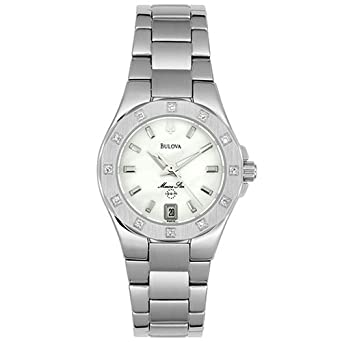 7ee9661f9 Image Unavailable. Image not available for. Color: Bulova Women's 96R24 Marine  Star Diamond Accent Watch