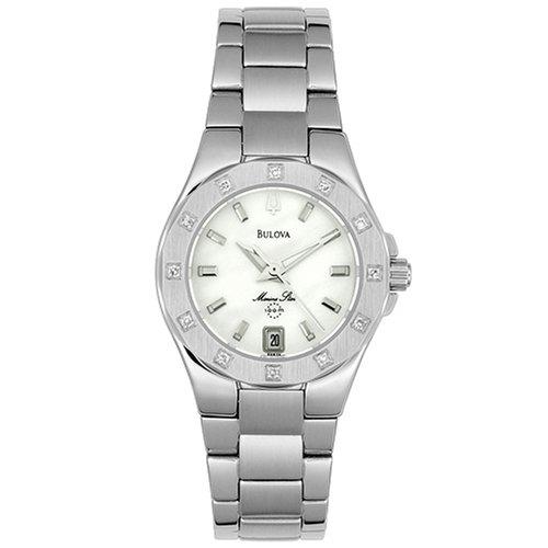 Bulova Marine Star Ladies (Bulova Women's 96R24 Marine Star Diamond Accent Watch)