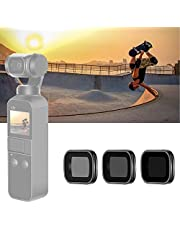 Neewer Set di filtri magnetici per DJI Osmo Pocket Fotocamera Lenti, Include filtri ND4 ND8 ND16 CPL ND32 / PL ND64 / PL Multi-Rivestiti con Scatola per Fotografia Esterna (Nero)