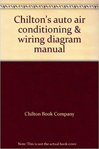 Chilton's auto air conditioning & wiring diagram manual ... on