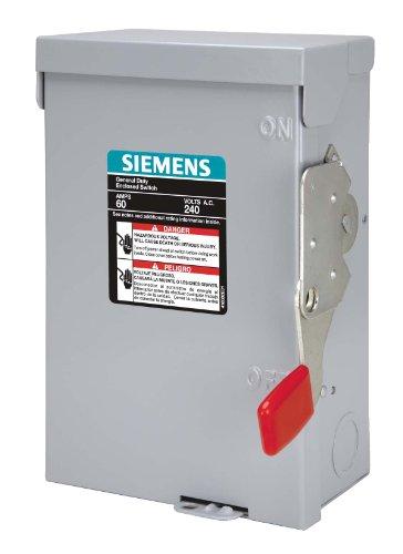 SIEMENS LF111NR 30 Amp, 1 Pole, 120-Volt, PLUG Fused, General Duty, W/N Outdoor Rated by Siemens