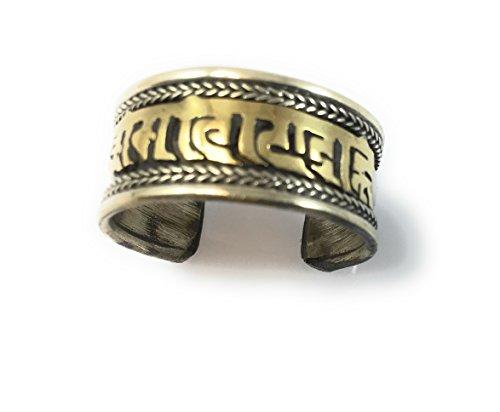 (Hands Of Tibet Tibetan Om Mani Padme Hum Healing Ring (Om mani Ring))