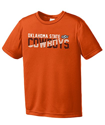 NCAA Oklahoma State Cowboys Youth Boys Diagonal Short sleeve Polyester Competitor T-Shirt, Youth ()