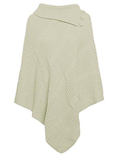 Freedom & Fashion - Poncho - capa - para mujer crema