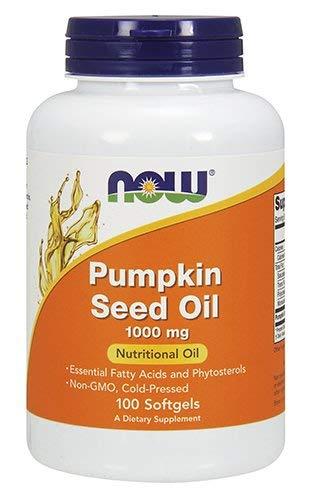Now Pumpkin Seed Oil 1000 mg 100 softgels (Best Pumpkin Seed Oil Capsules)