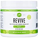 SFH Revive | Non Stimulant Natural Energy Drink | Supports Hydration, Alertness, Energy, Reduce Fatigue | CoQ10, Ribose, N-Acetyl L-Carnitine | 5.6oz | 20 Servings (Mojito)