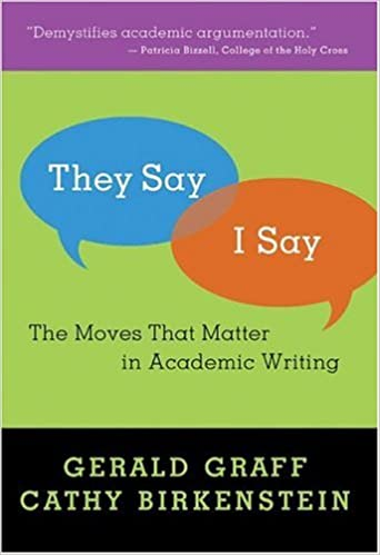 Amazon they sayi say the moves that matter in academic they sayi say the moves that matter in academic writing 1st edition thecheapjerseys Choice Image