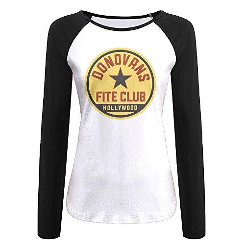 (Creamfly Womens Ray Donovan Fite Club Long Sleeve Raglan Baseball Tshirt XXL)
