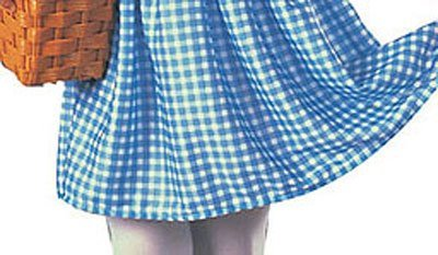 (Wizard of Oz Dorothy Costume, Sky Blue / White, Toddler (Sizes 2-4 / Ages 1-2))