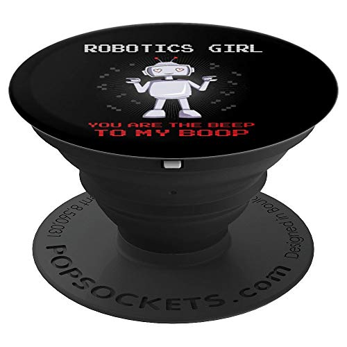 Robotics Girl Nerd Geek Robot Daughter Bot Funny Kids Gift - PopSockets Grip and Stand for Phones and -